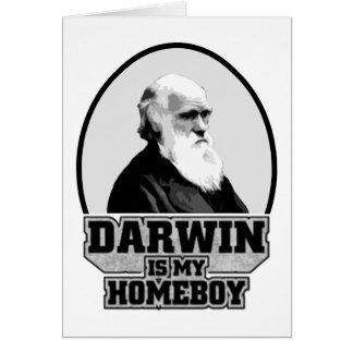 Darwin es mi Homeboy Tarjeta De Felicitación