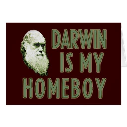 Darwin es mi Homeboy Tarjeton