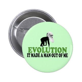 Darwin evolution 2 inch round button