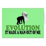 Darwin evolution greeting card