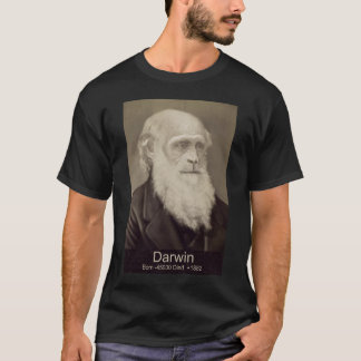 Darwin Evolution of Man Poster Artwork Evolve T-Shirt