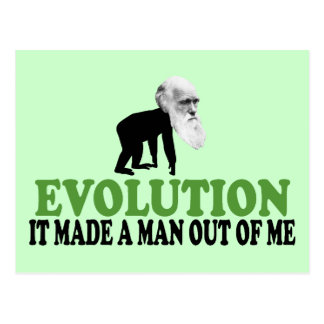 Darwin evolution postcard