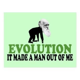 Darwin evolution postcard