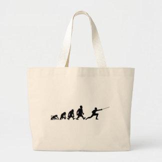 darwin fencing jumbo tote bag