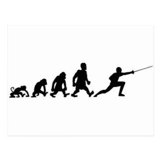 darwin fencing postcard