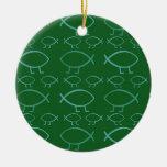 Darwin Fish Christmas Tree Ornament