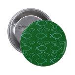 Darwin Fish (green & blue) Pin-Back Buttons