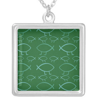 Darwin Fish Pendant Necklace