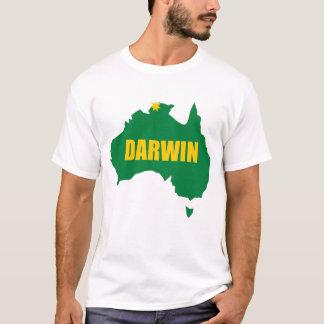 Darwin Green and Gold Map T-Shirt