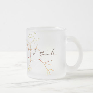 Darwin, I think tree of life Frosted Glass Coffee Mug