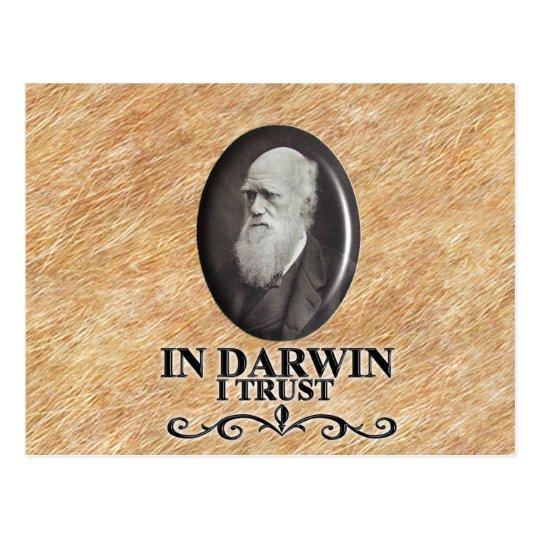 DARWIN I TRUST POSTCARD