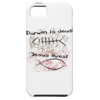 Darwin Is Dead - Jesus Lives iPhone 5 Covers