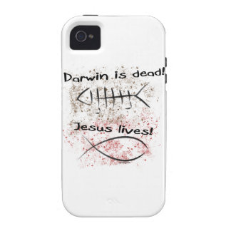 Darwin Is Dead - Jesus Lives Vibe iPhone 4 Cover