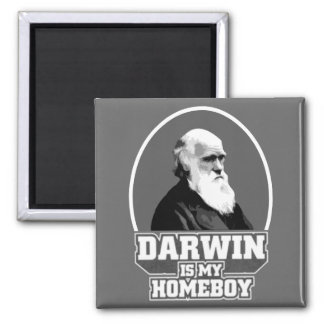 Darwin Is My Homeboy 2 Inch Square Magnet