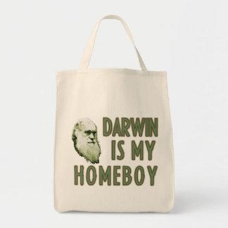 Darwin is my Homeboy Tote Bags