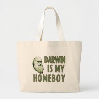 Darwin is my homeboy canvas bag