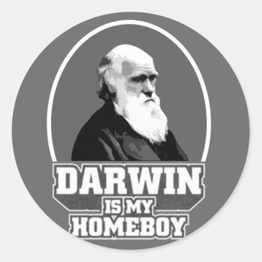 Darwin Is My Homeboy Classic Round Sticker