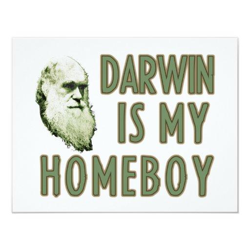 Darwin is my homeboy custom invitations