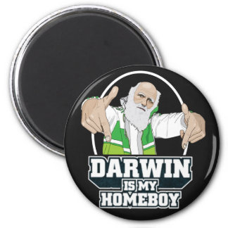 Darwin Is My Homeboy (Full Color) 2 Inch Round Magnet