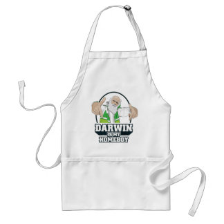 Darwin Is My Homeboy (Full Color) Adult Apron