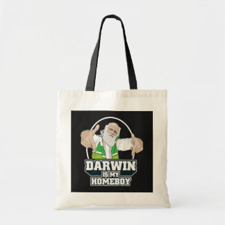 Darwin Is My Homeboy (Full Color) Budget Tote Bag