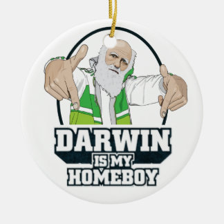 Darwin Is My Homeboy (Full Color) Ceramic Ornament