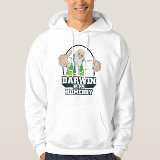 Darwin Is My Homeboy (Full Color) Hoodie