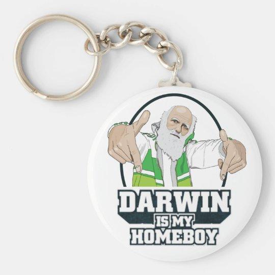 Darwin Is My Homeboy (Full Color) Keychain