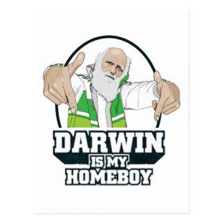 Darwin Is My Homeboy (Full Color) Postcard