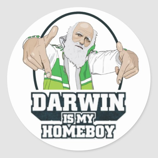 Darwin Is My Homeboy (Full Color) Sticker