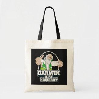 Darwin Is My Homeboy (Full Color) Tote Bag