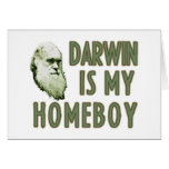 Darwin is my homeboy greeting cards