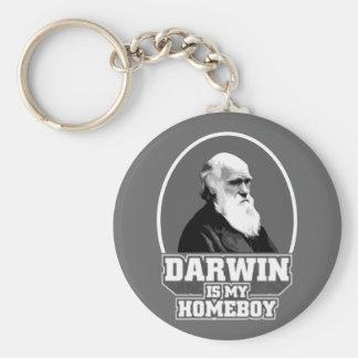 Darwin Is My Homeboy Keychains