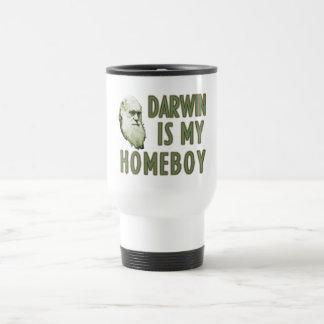 Darwin is my Homeboy 15 Oz Stainless Steel Travel Mug
