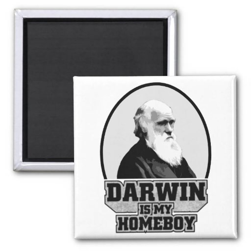 Darwin Is My Homeboy Refrigerator Magnets
