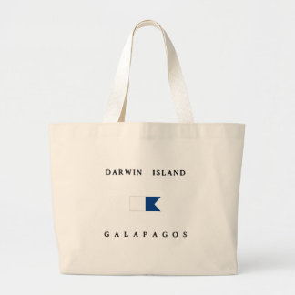 Darwin Island Galapagos Alpha Dive Flag Tote Bag