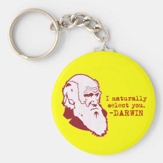 Darwin Basic Round Button Keychain