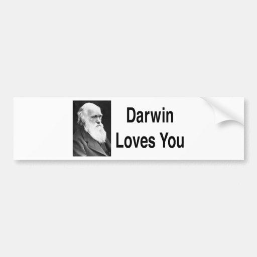 Darwin le ama 2 etiqueta de parachoque