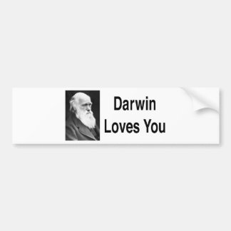 Darwin le ama 2 pegatina para auto