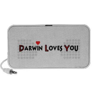 Darwin le ama altavoces