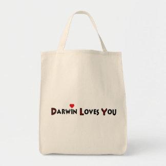 Darwin le ama bolsa lienzo