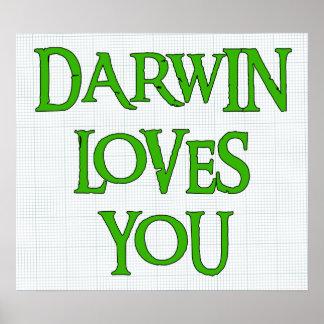 Darwin le ama poster