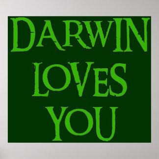 Darwin le ama posters