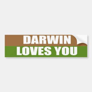 Darwin le ama pegatina de parachoque