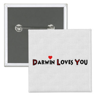 Darwin le ama pin cuadrada 5 cm