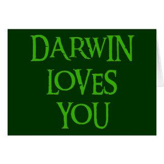Darwin le ama tarjeta de felicitación