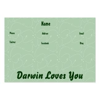 Darwin le ama tarjetas de visita grandes