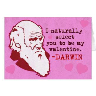 Darwin, le selecciona naturalmente Valen… Tarjeta De Felicitación