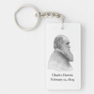 Darwin Llavero Rectangular Acrílico A Una Cara