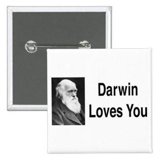 Darwin Loves You 2 Pinback Button